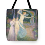 Women Amongst The Trees Tote Bag by Hippolyte Petitjean