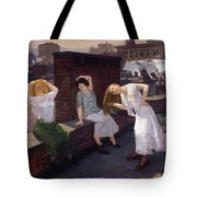 Women Drying Their Hair 1912 Tote Bag