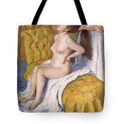 Women Having Her Hair Combed Tote Bag