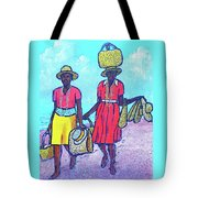 Women On Beach At Grenada Tote Bag