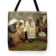 Women Outside The Church - Finland Tote Bag