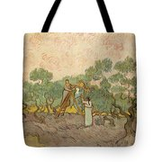 Women Picking Olives Tote Bag