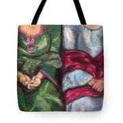 Women Wearing Shawls II Tote Bag