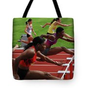 Womens Hurdles 3 Tote Bag