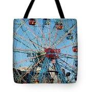 Wonder Wheel Of Coney Island Tote Bag