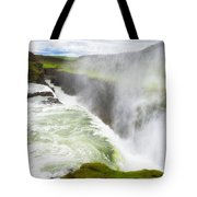 Wonderful Waterfall Gullfoss In South Iceland Tote Bag