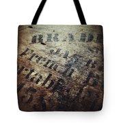Wood And Ink Tote Bag