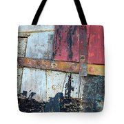 Wood And Metal Abstract Tote Bag by Jill Battaglia