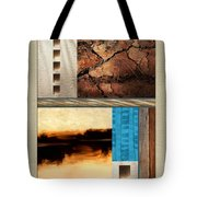 Wood And Stone Rectangular Textures Tote Bag