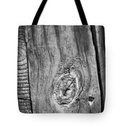 Wood Black And White Tote Bag