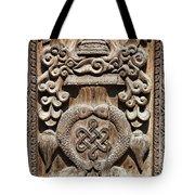 Wood Carving At Bhaktapur In Nepal Tote Bag by Robert Preston