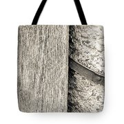 Wood Concrete And Steel Tote Bag