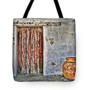 Wood Door And Clay Pot By Diana Sainz Tote Bag