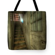 Wood Door And Stairs Tote Bag