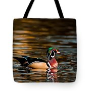 Wood Duck At Morning Tote Bag