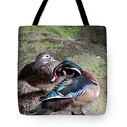 Wood Duck Couples Tote Bag
