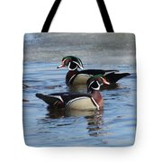 Wood Duck Drake Pair Tote Bag