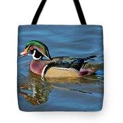 Wood Duck Male Calling Tote Bag