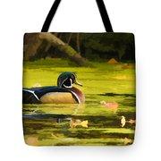 Wood Duck On Pond    Tote Bag