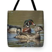 Wood Duck Pair Dwf088 Tote Bag
