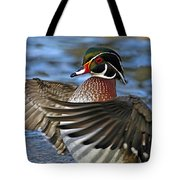 Wood Duck Standing Ovation Tote Bag