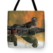 Wood Ducks Tote Bag