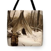 Wood Gatherer Tote Bag