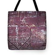 Wood Graffiti Tote Bag