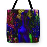 Wood Nymph In Blue Tote Bag