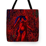 Wood Nymph In Red Power Tote Bag