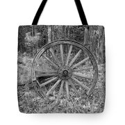 Wood Spoke Wheel Tote Bag
