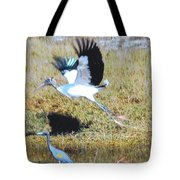Wood Stork And Blue Heron Tote Bag