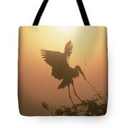 Wood Stork Collecting Nesting Material Tote Bag