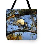 Wood Stork Perch Tote Bag
