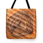 Wood Surface With Annual Rings Tote Bag