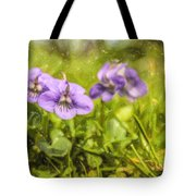 Wood Violet Tote Bag