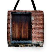 Wood Window Brick Wall Tote Bag