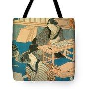 Woodblock Production Tote Bag