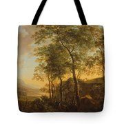 Wooded Hillside With A Vista Tote Bag