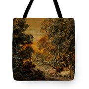 Wooded Landscape With Herdsman And Cattle Tote Bag