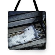 Wooden Bench With Snow 1 Tote Bag