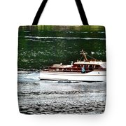 Wooden Boat With Skiff Tote Bag
