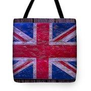 Wooden British Flag Tote Bag