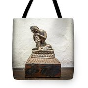 Wooden Buddha Statue Tote Bag