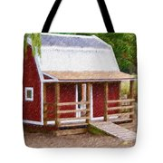 Wooden Cabin  Tote Bag
