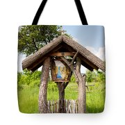wooden shrine of holy Mother in Poland  Tote Bag