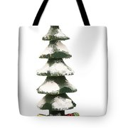 Wooden Christmas Tree With Gifts Tote Bag