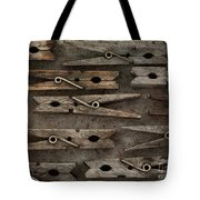 Wooden Clothespins Tote Bag