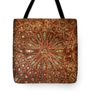 Wooden Coffered Ceiling In The Alhambra Tote Bag