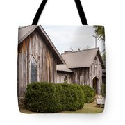 Wooden Country Church Tote Bag